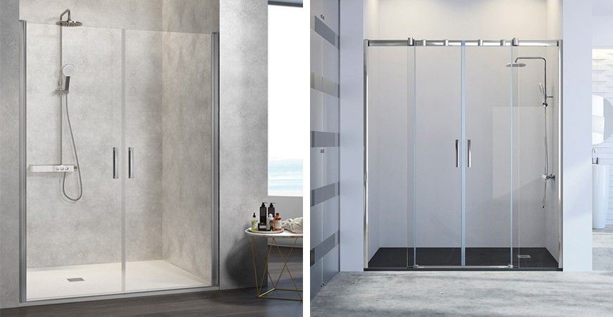 Mamparas de ducha sin perfiles
