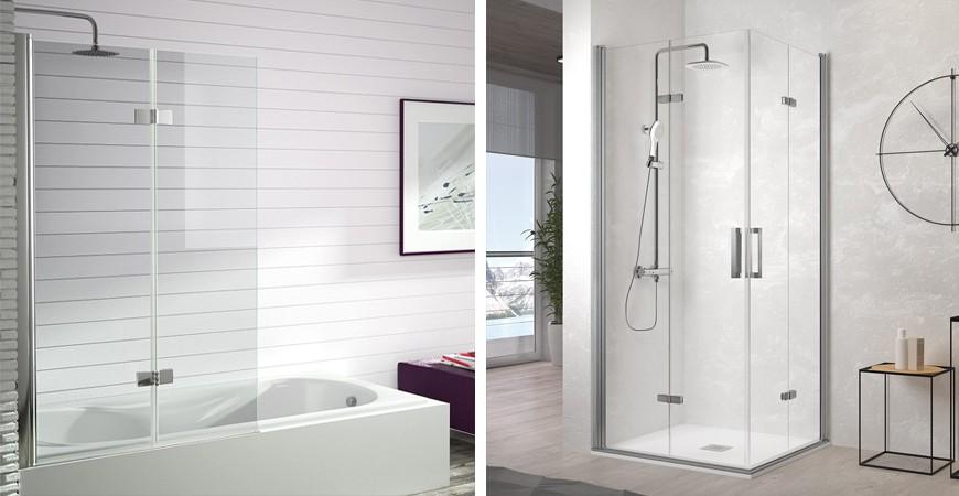 ¿Qué son las mamparas de ducha plegables?